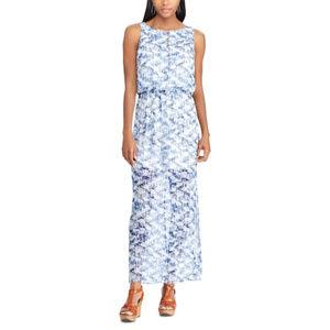 Chaps Geometric Maxi Dress